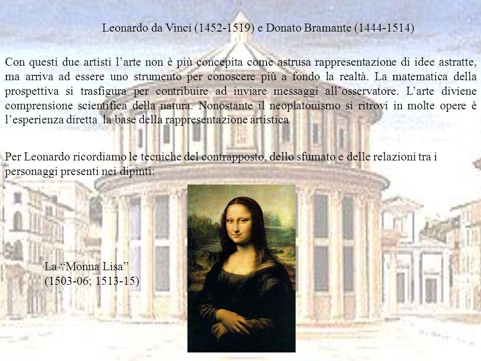 Leonardo da Vinci (1452-1519) e Donato Bramante (1444-1514)