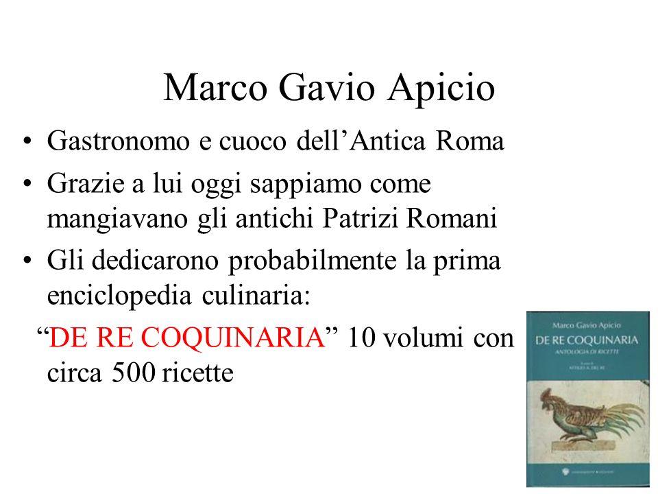 Marco Gavio Apicio Gastronomo e cuoco dell'Antica Roma