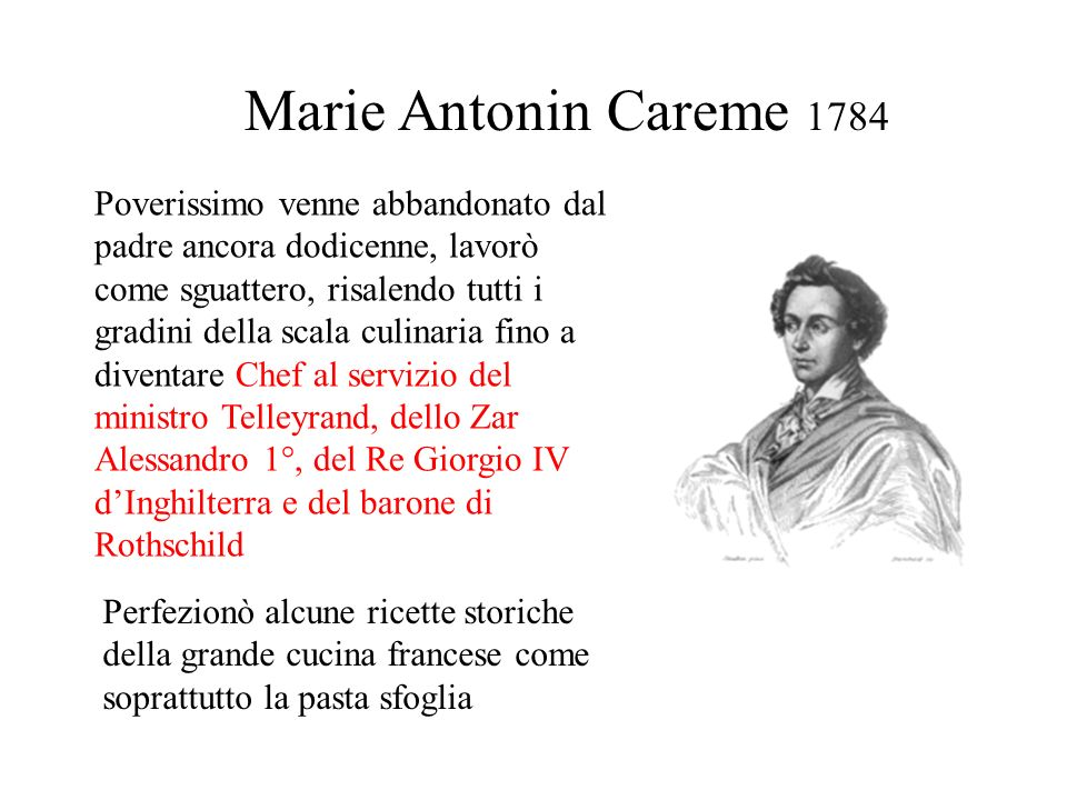 Marie Antonin Careme 1784