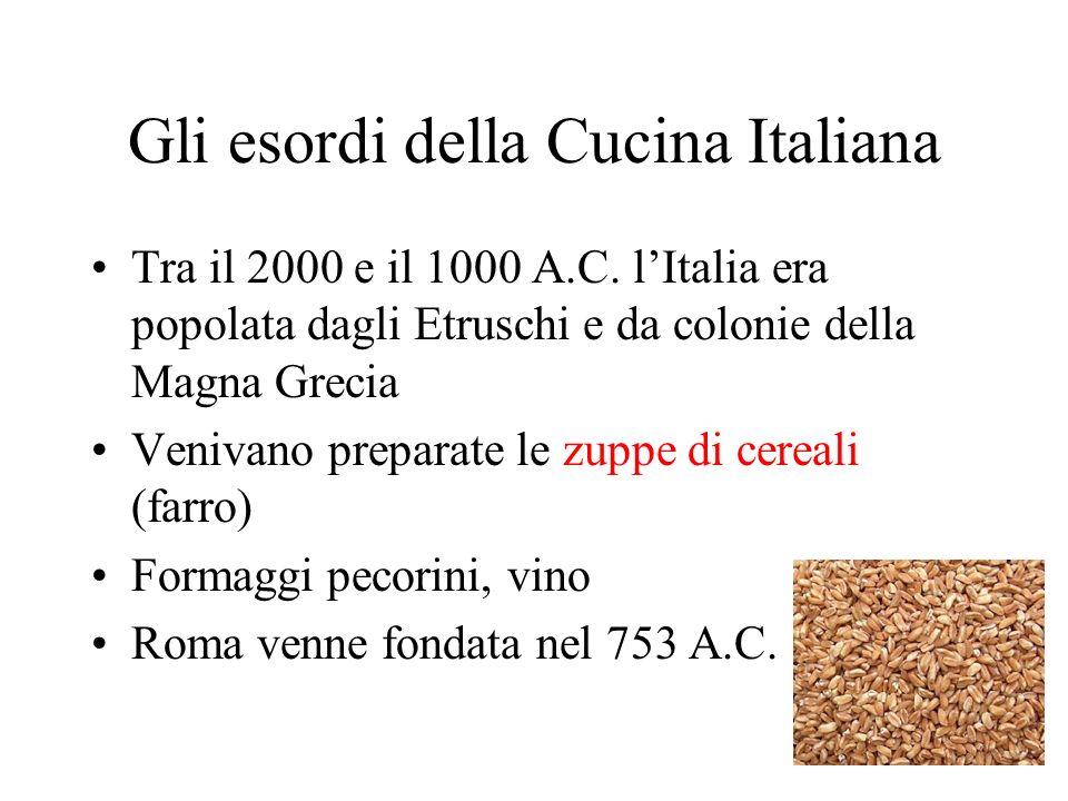Gli esordi della Cucina Italiana