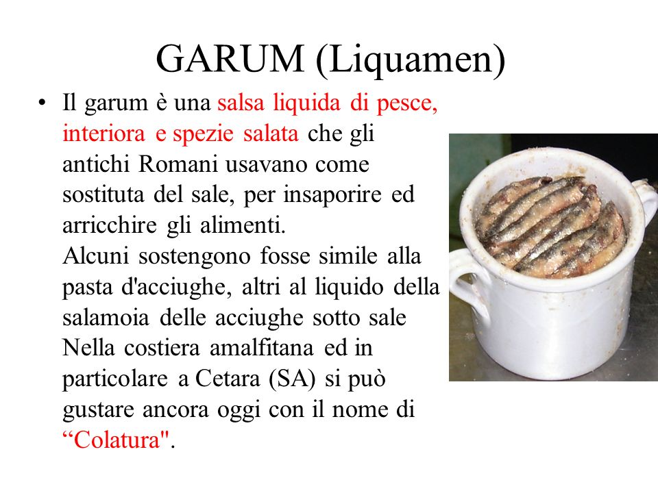 GARUM (Liquamen)