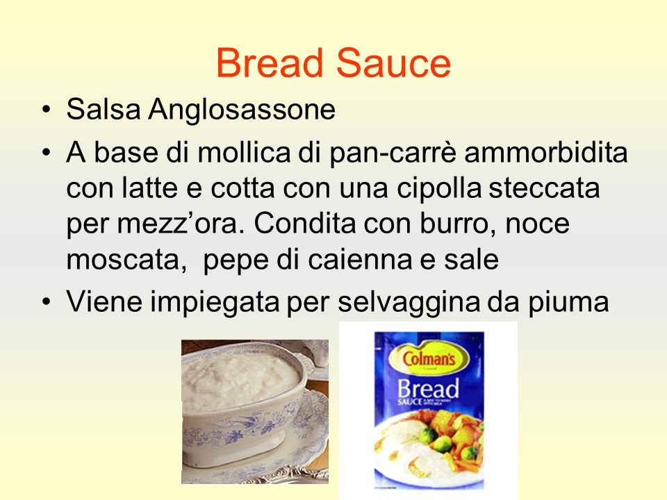 Bread Sauce Salsa Anglosassone