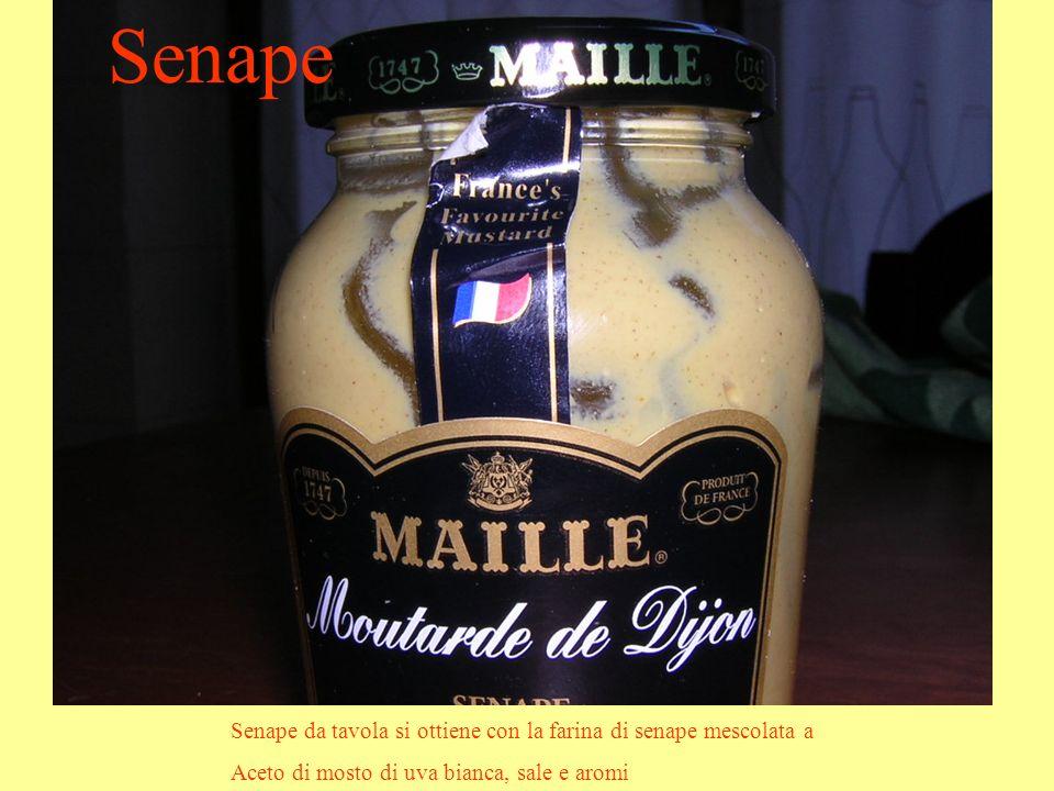 Senape Senape da tavola si ottiene con la farina di senape mescolata a
