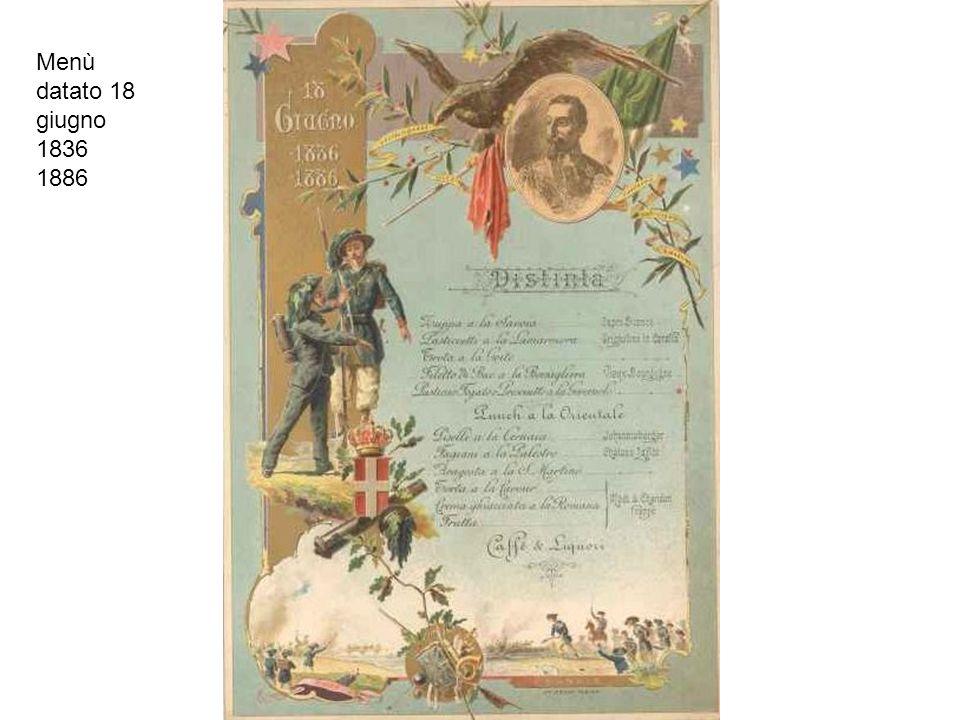 Menù datato 18 giugno 1836 1886
