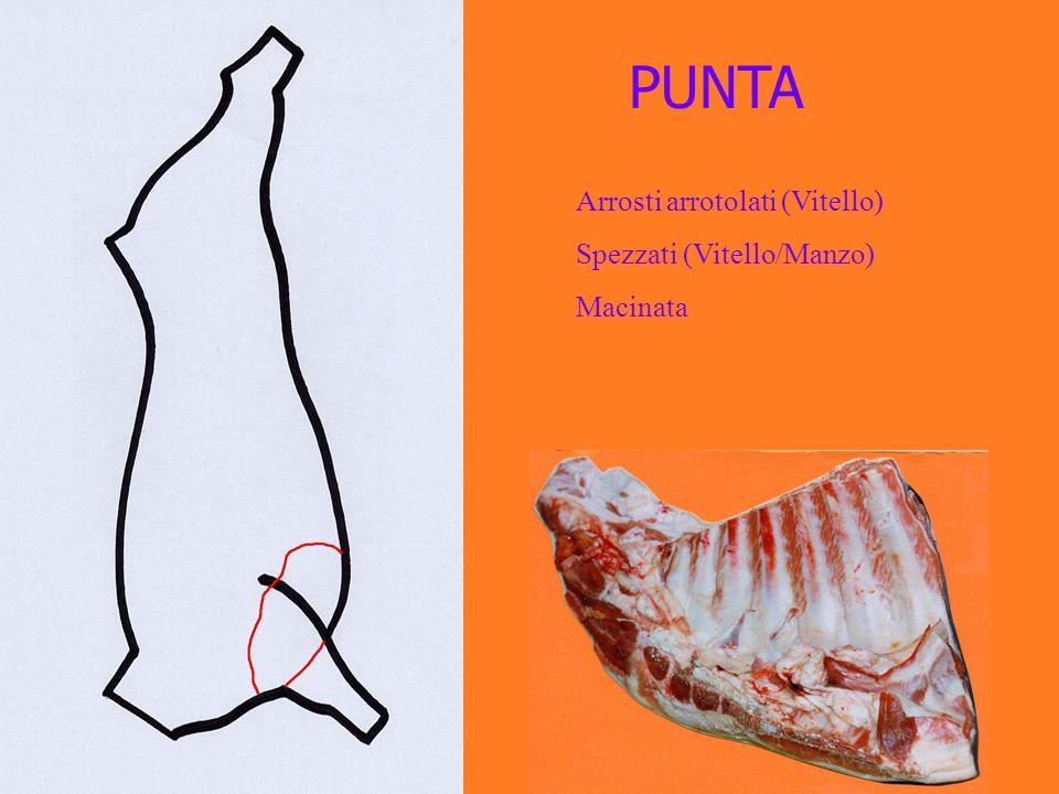 PUNTA Arrosti arrotolati (Vitello) Spezzati (Vitello/Manzo) Macinata