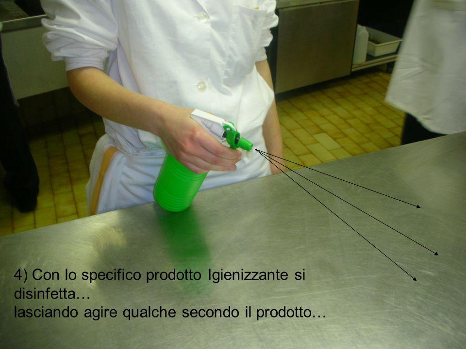 4) Con lo specifico prodotto Igienizzante si disinfetta…