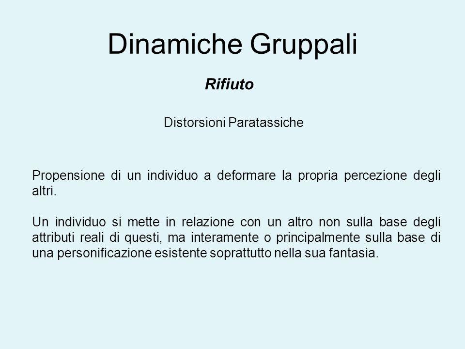 Dinamiche Gruppali Rifiuto Distorsioni Paratassiche
