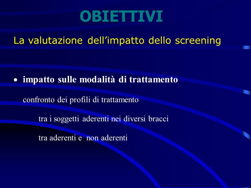 OBIETTIVI La valutazione dell'impatto dello screening