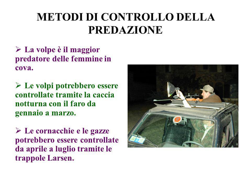 METODI DI CONTROLLO DELLA PREDAZIONE