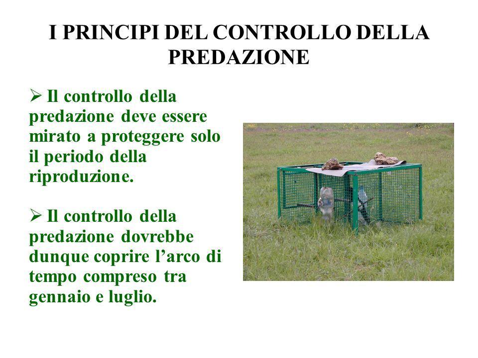 I PRINCIPI DEL CONTROLLO DELLA PREDAZIONE