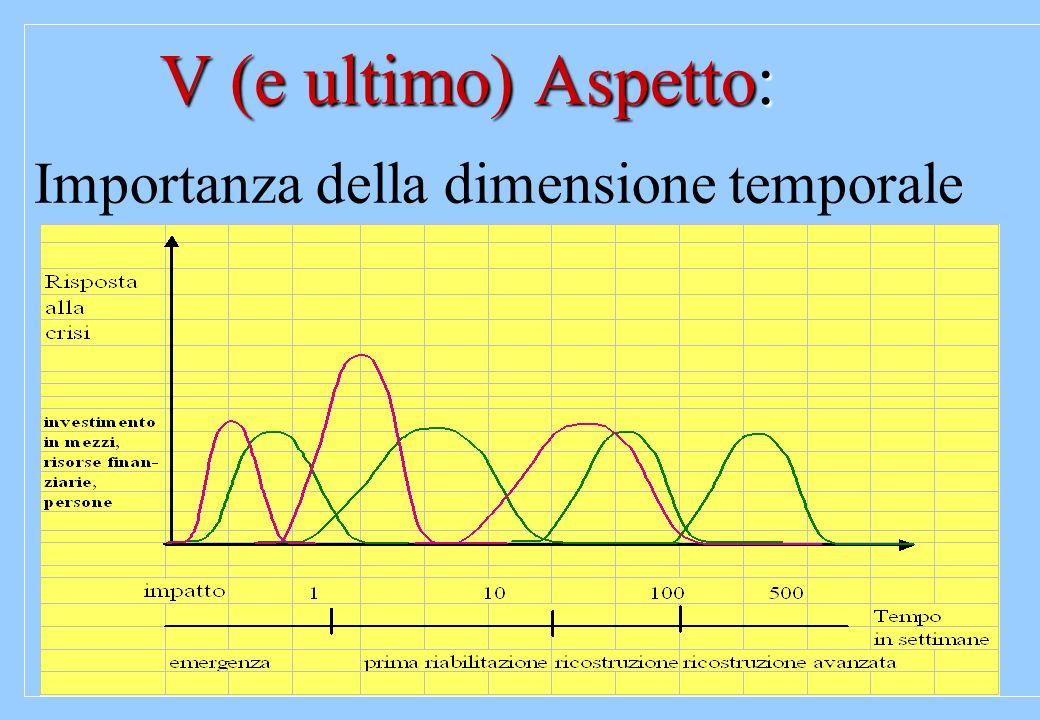 V (e ultimo) Aspetto: Importanza della dimensione temporale