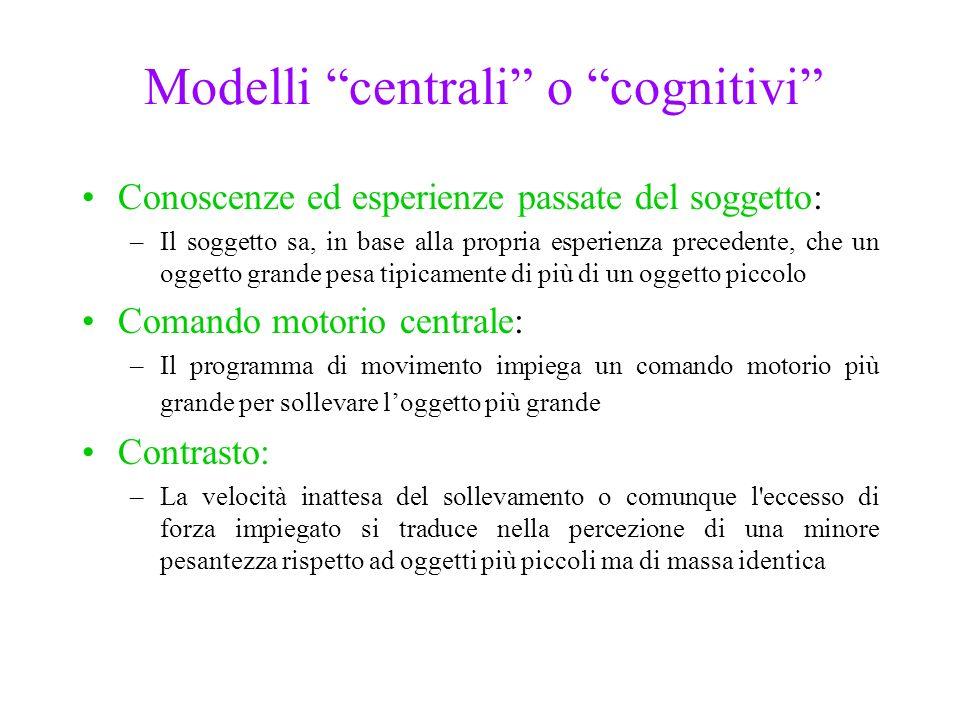Modelli centrali o cognitivi