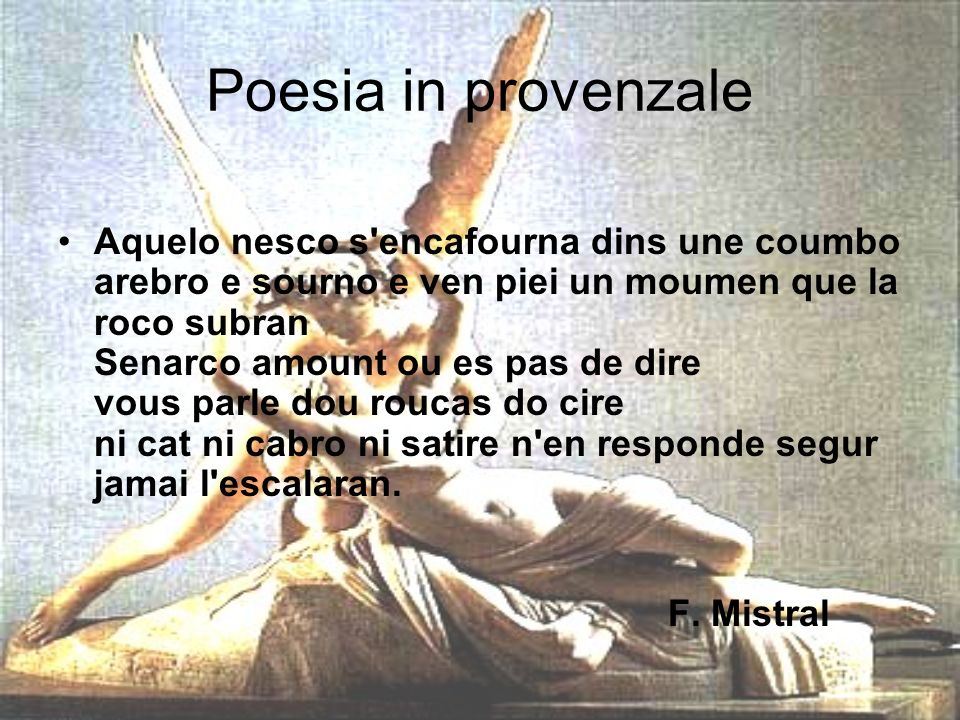 Poesia in provenzale