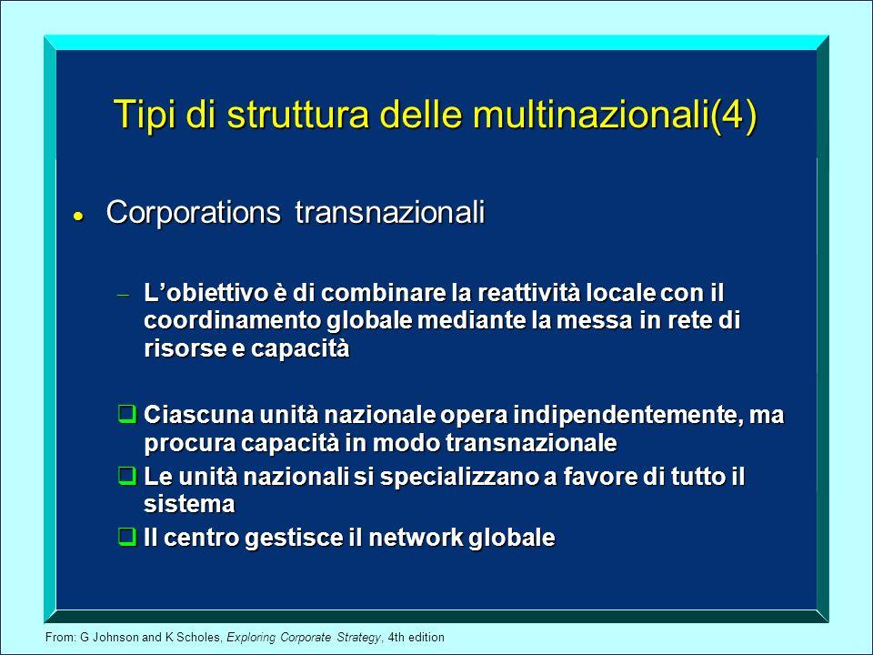 Tipi di struttura delle multinazionali(4)