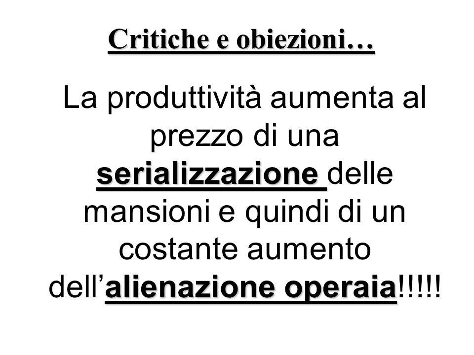 Critiche e obiezioni…