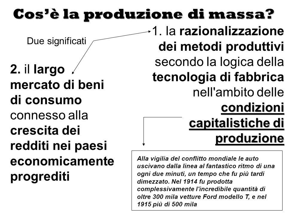 Cos'è la produzione di massa