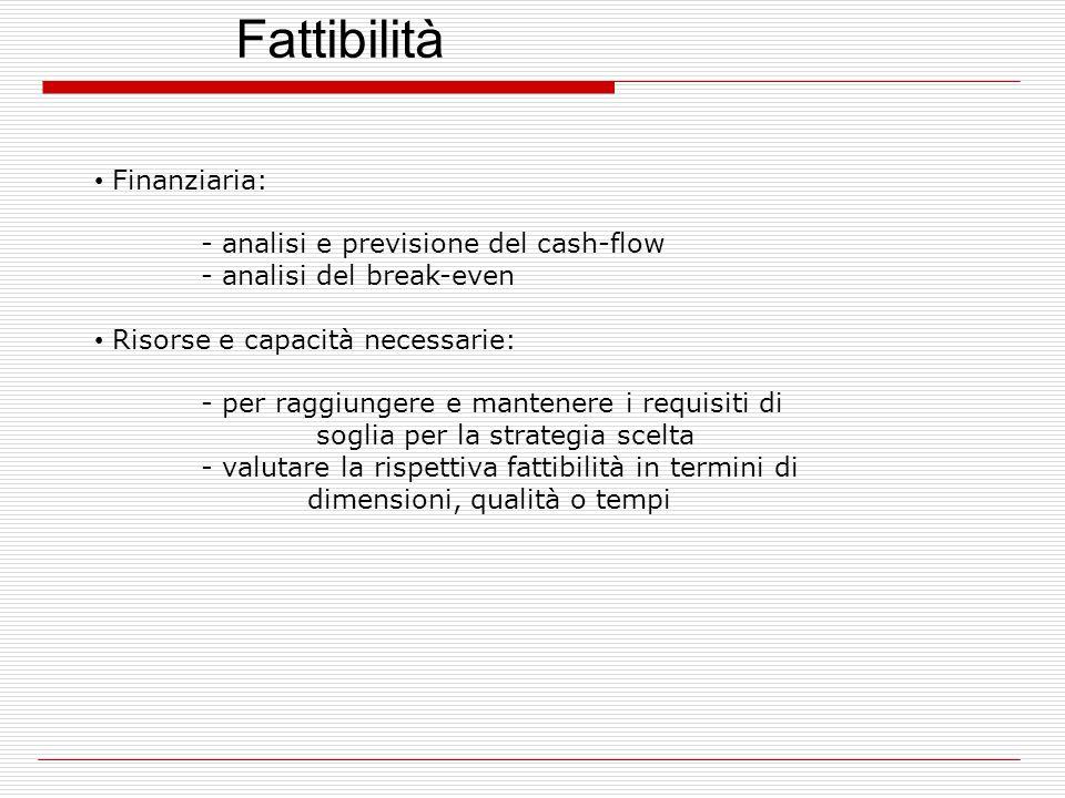 Fattibilità Finanziaria: - analisi e previsione del cash-flow