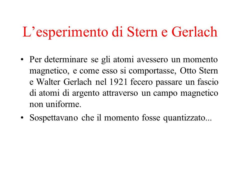 L'esperimento di Stern e Gerlach