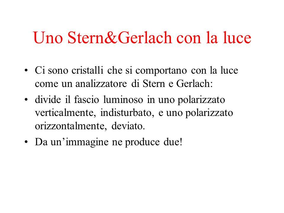 Uno Stern&Gerlach con la luce