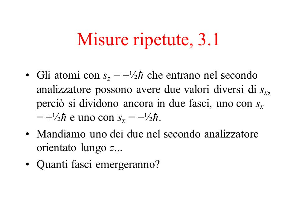 Misure ripetute, 3.1