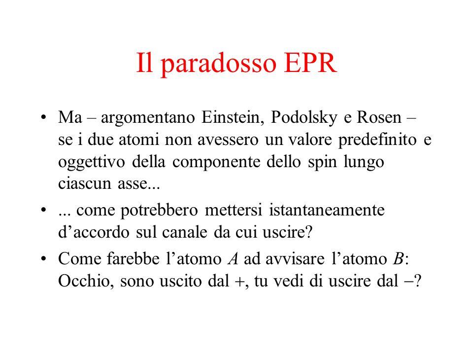 Il paradosso EPR