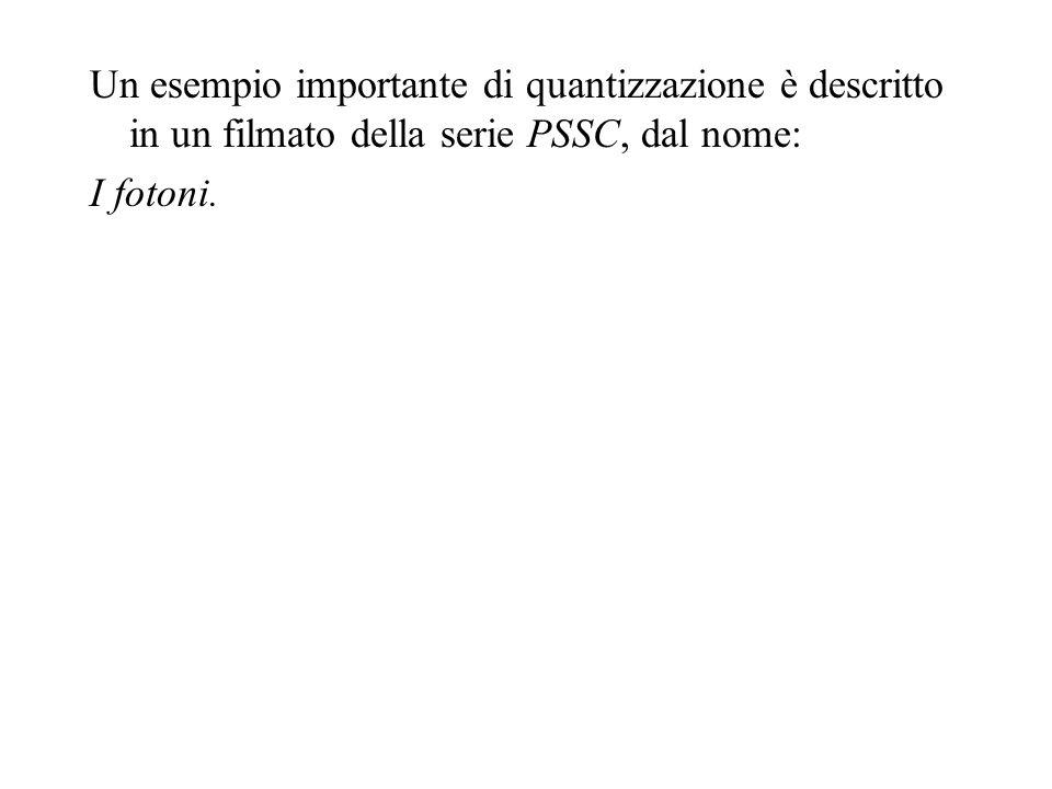 Un esempio importante di quantizzazione è descritto in un filmato della serie PSSC, dal nome: