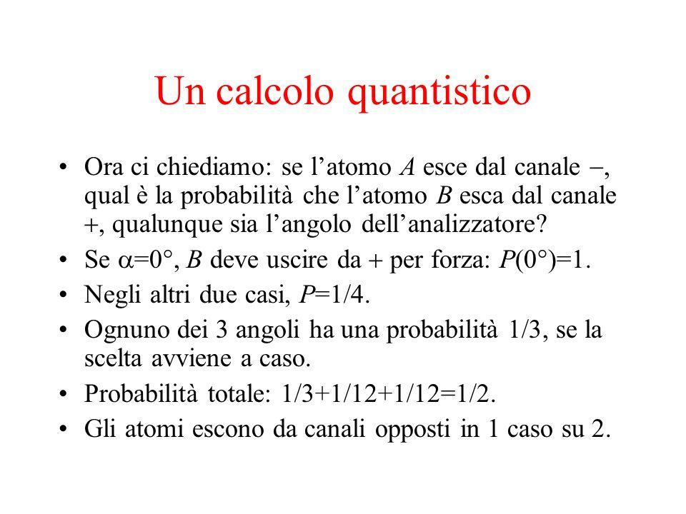 Un calcolo quantistico