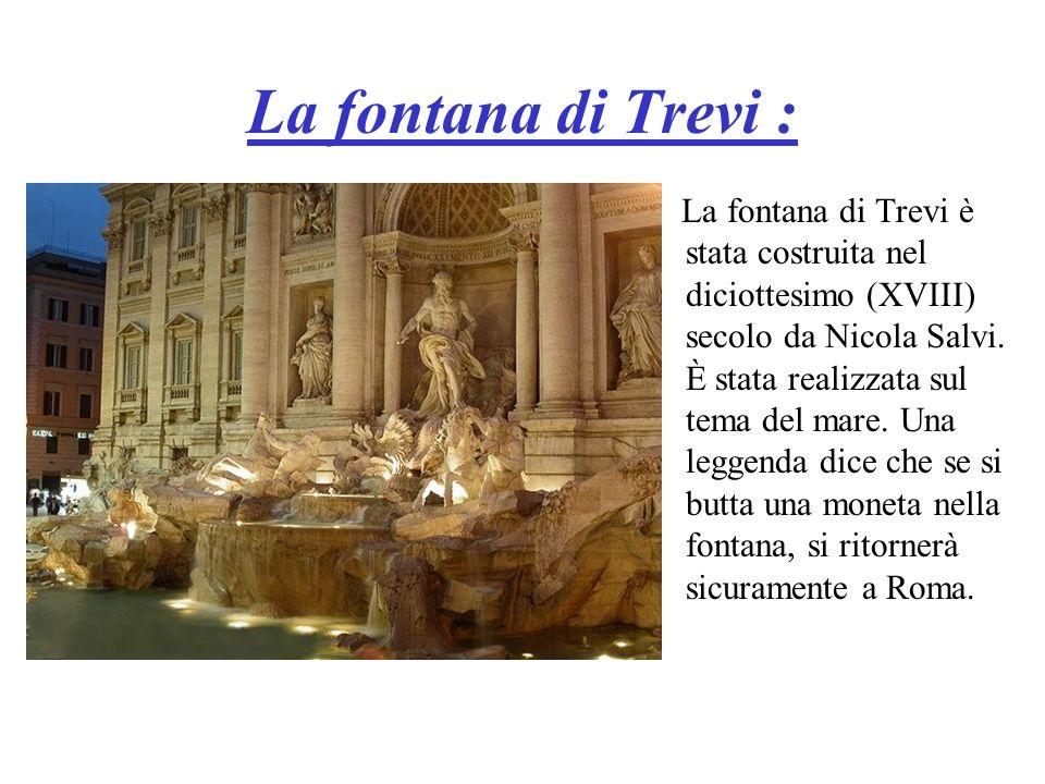 La fontana di Trevi :