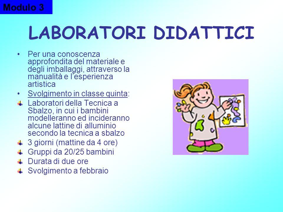 LABORATORI DIDATTICI Modulo 3