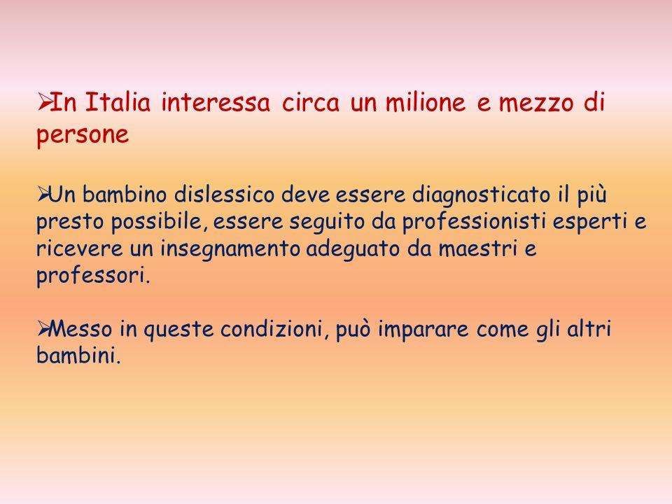 In Italia interessa circa un milione e mezzo di persone