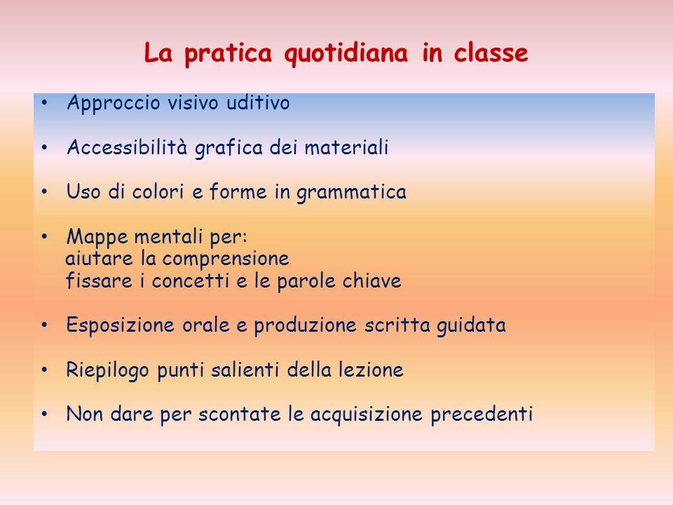 La pratica quotidiana in classe