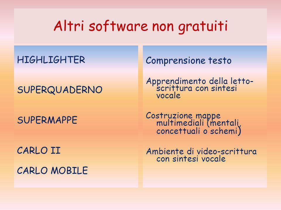 Altri software non gratuiti