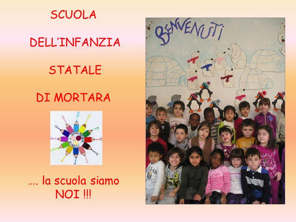 SCUOLA DELL'INFANZIA STATALE DI MORTARA …. la scuola siamo NOI !!!