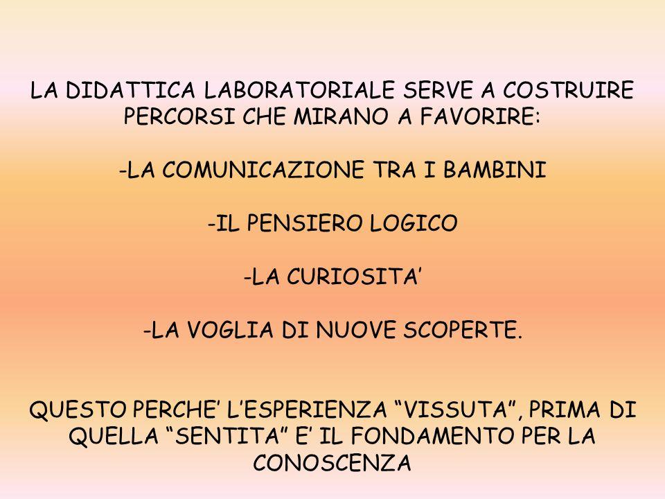 LA COMUNICAZIONE TRA I BAMBINI IL PENSIERO LOGICO LA CURIOSITA'