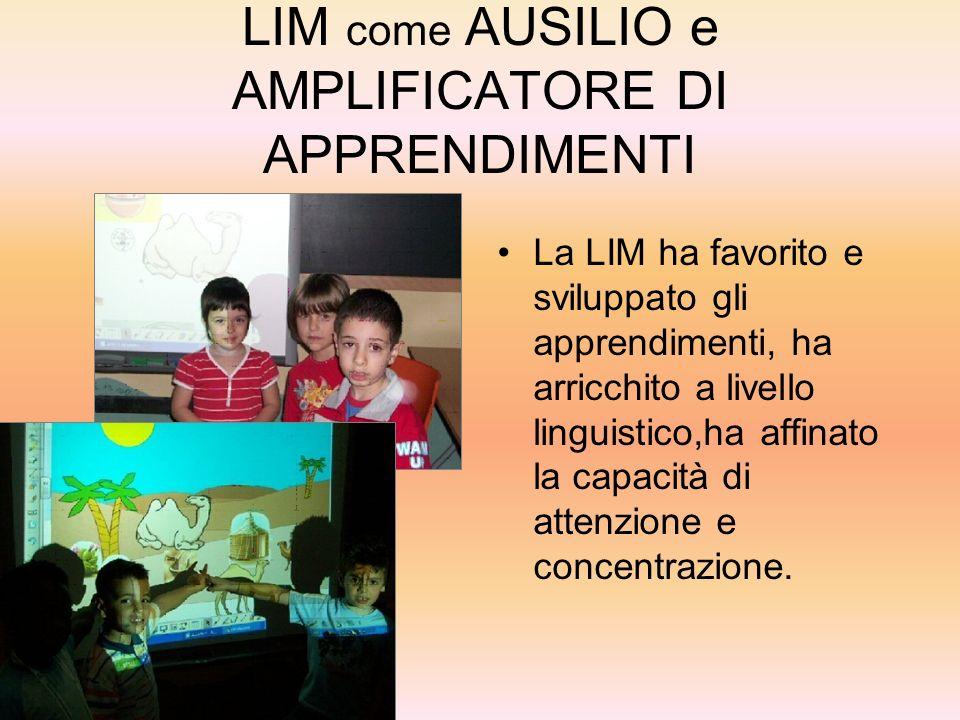 LIM come AUSILIO e AMPLIFICATORE DI APPRENDIMENTI