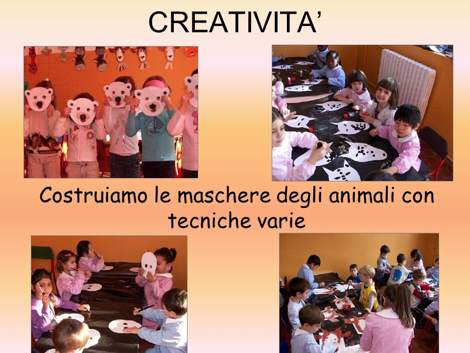 Costruiamo le maschere degli animali con tecniche varie