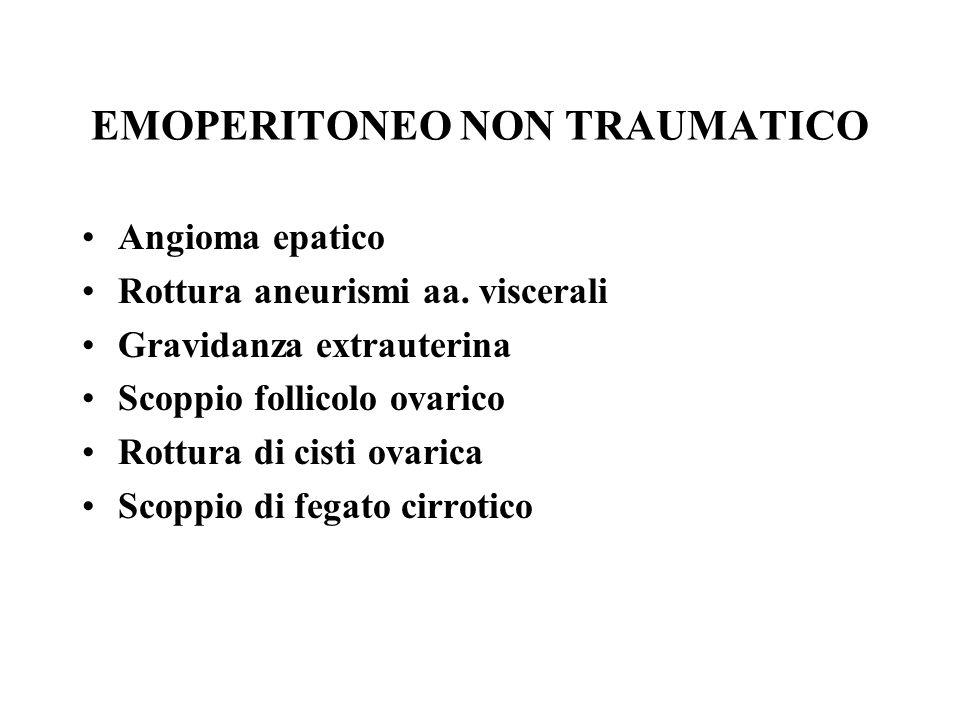 EMOPERITONEO NON TRAUMATICO