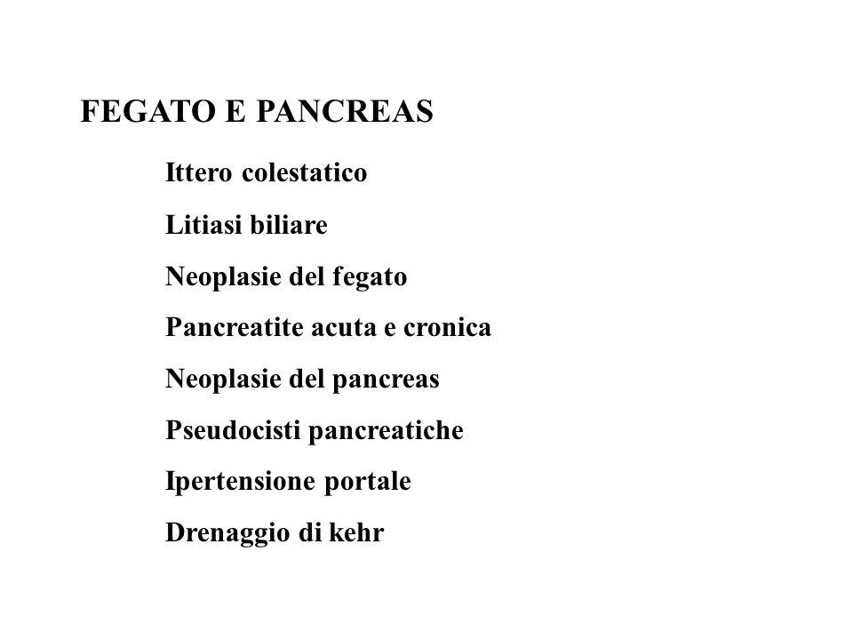 FEGATO E PANCREAS Ittero colestatico Litiasi biliare