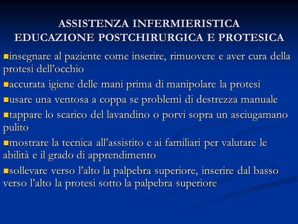ASSISTENZA INFERMIERISTICA EDUCAZIONE POSTCHIRURGICA E PROTESICA