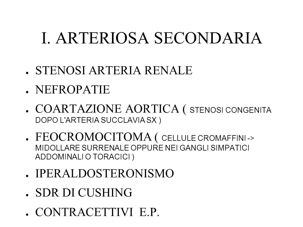I. ARTERIOSA SECONDARIA