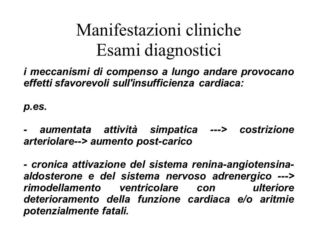 Manifestazioni cliniche Esami diagnostici
