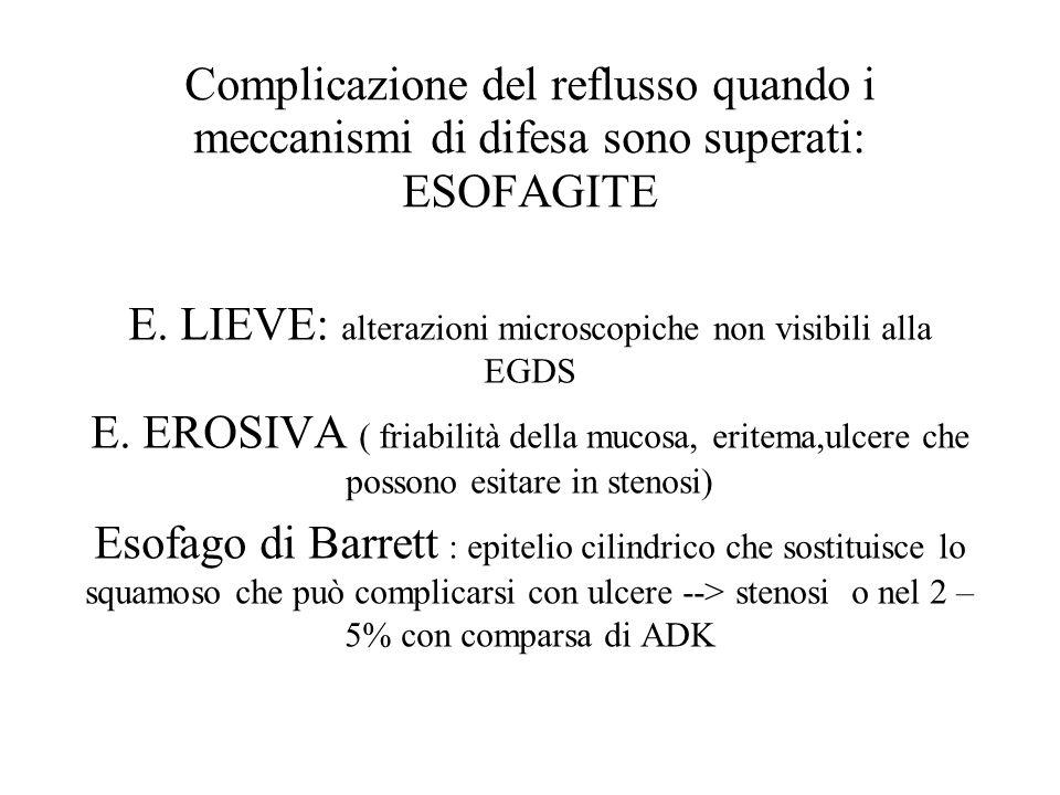 E. LIEVE: alterazioni microscopiche non visibili alla EGDS
