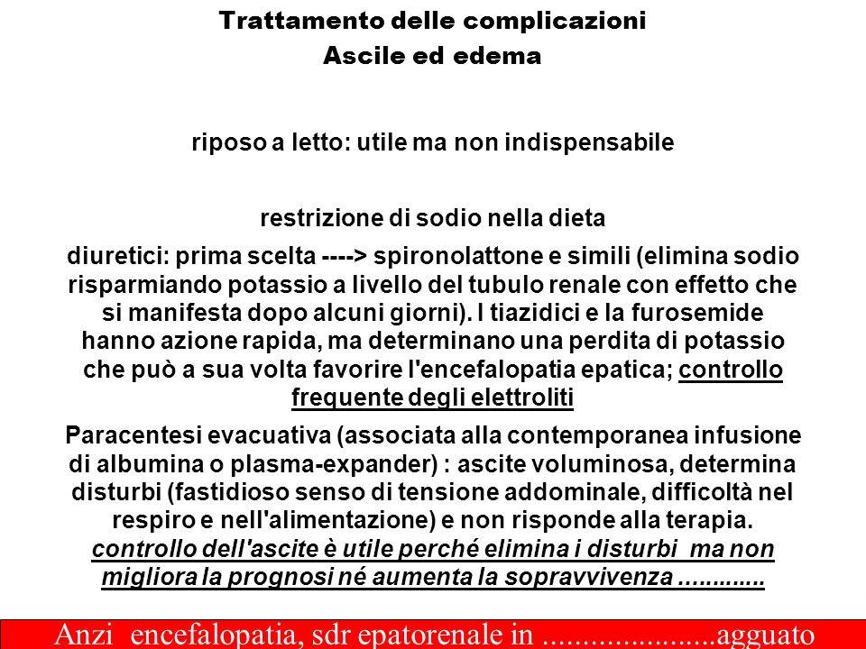 Trattamento delle complicazioni Ascile ed edema