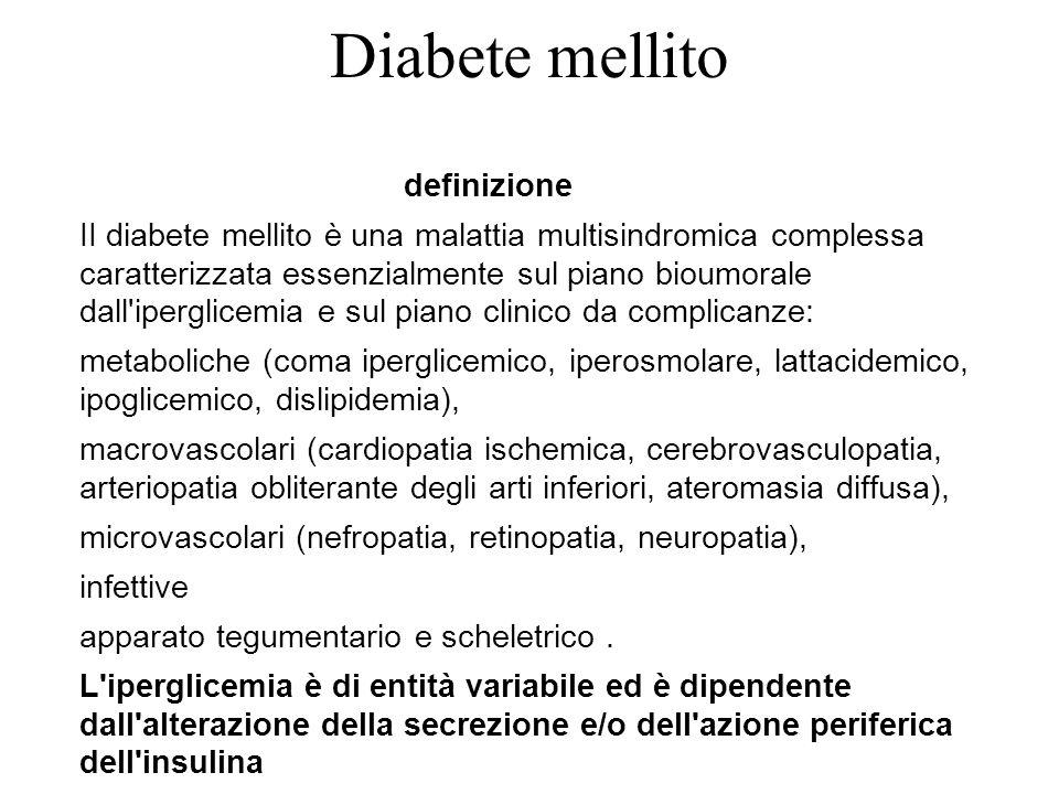 Diabete mellito definizione