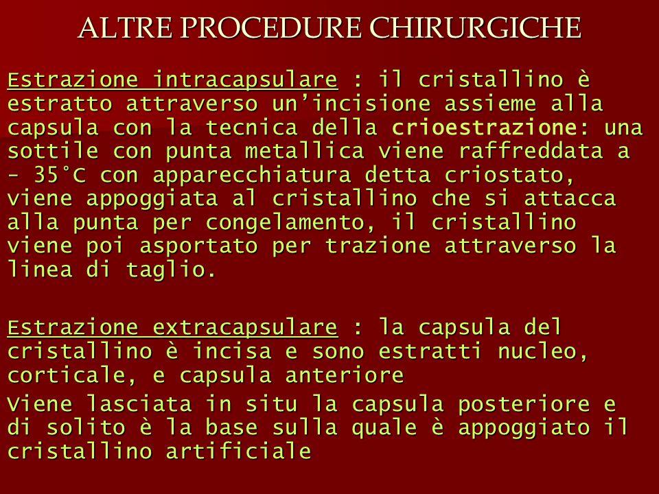 ALTRE PROCEDURE CHIRURGICHE