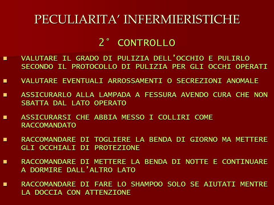 PECULIARITA' INFERMIERISTICHE