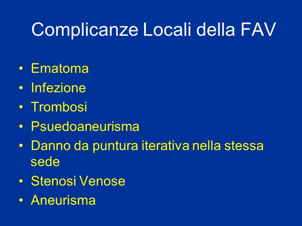 Complicanze Locali della FAV