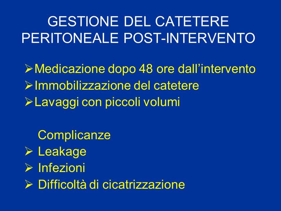 GESTIONE DEL CATETERE PERITONEALE POST-INTERVENTO