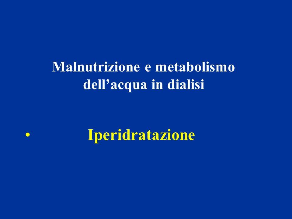 Malnutrizione e metabolismo dell'acqua in dialisi