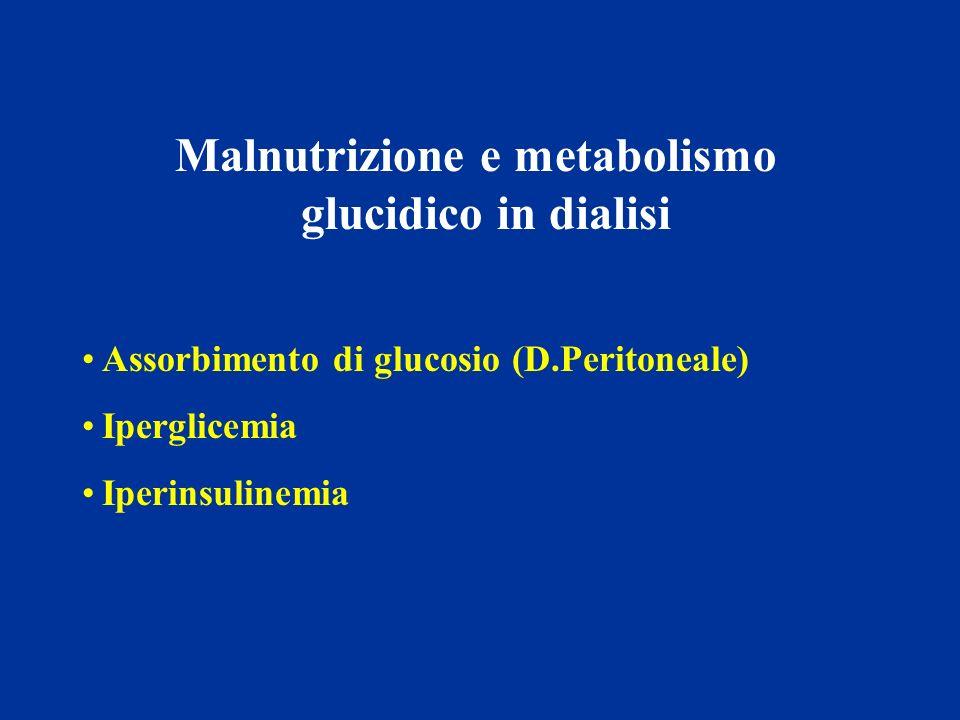 Malnutrizione e metabolismo glucidico in dialisi